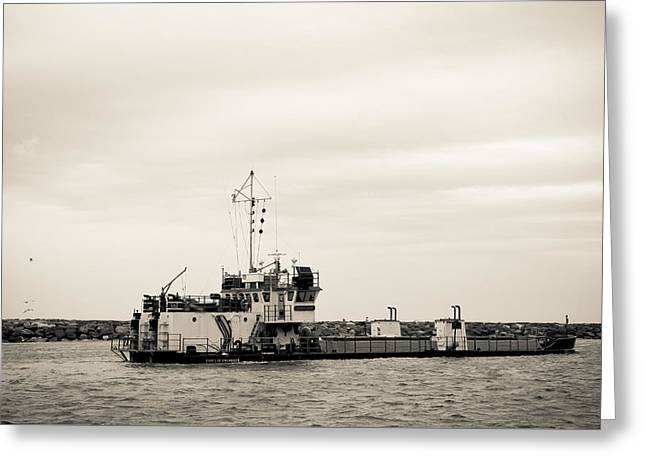 The Currituck In Sepia Greeting Card by Colleen Kammerer