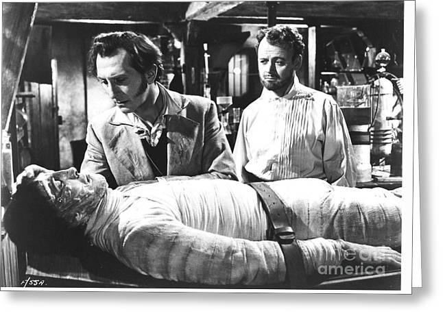The Curse Of Frankenstein 1957 Baron Victor Frankenstein Greeting Card