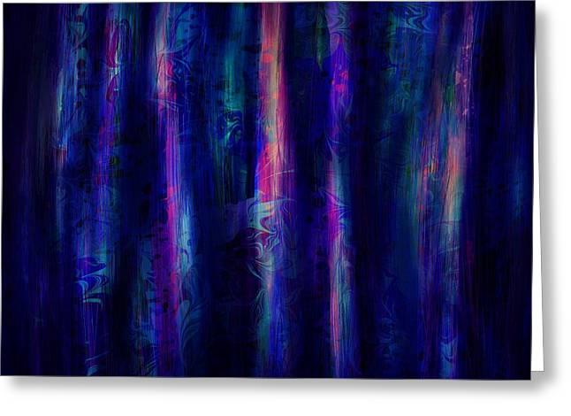 The Curtain Greeting Card by Rachel Christine Nowicki
