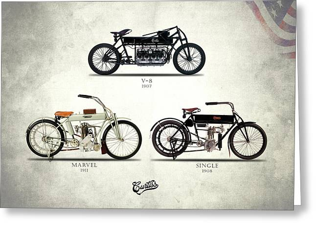 The Curtiss Motorcycle Collection Greeting Card