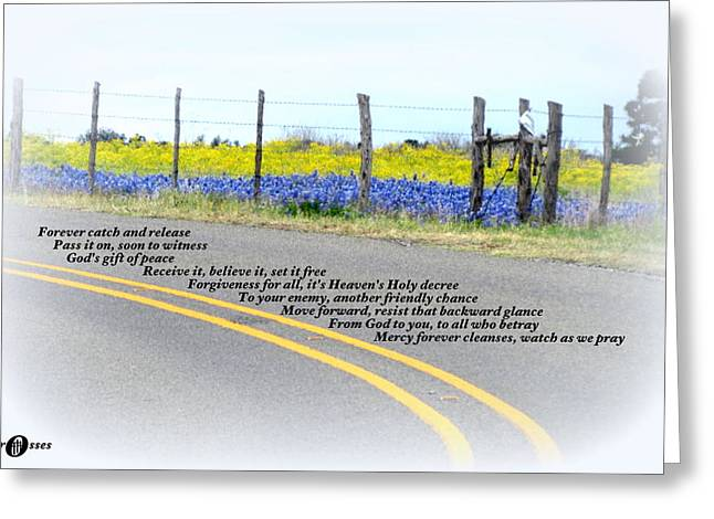 Freedom Around The Bend Greeting Card by David  Norman