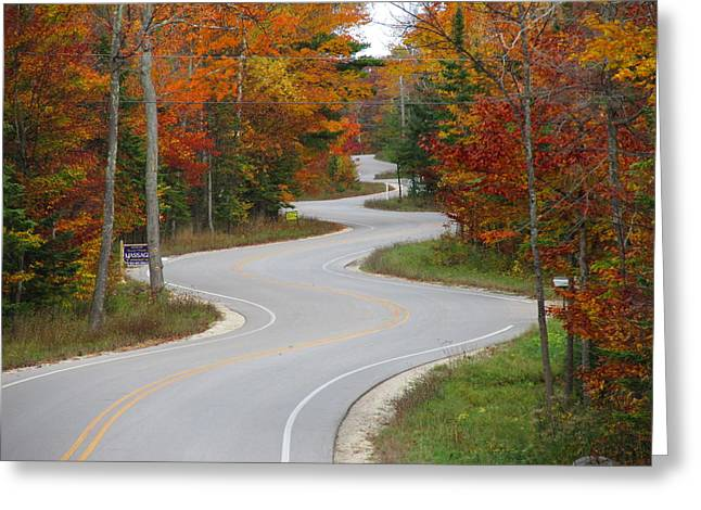 The Curvy Road Greeting Card