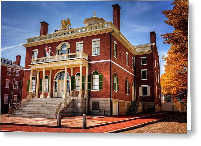 Greeting Card featuring the photograph The Custom House Salem Massachusetts  by Carol Japp