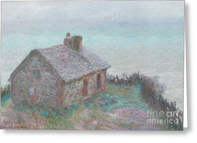 The Customs House At Varengeville Greeting Card by Claude Monet