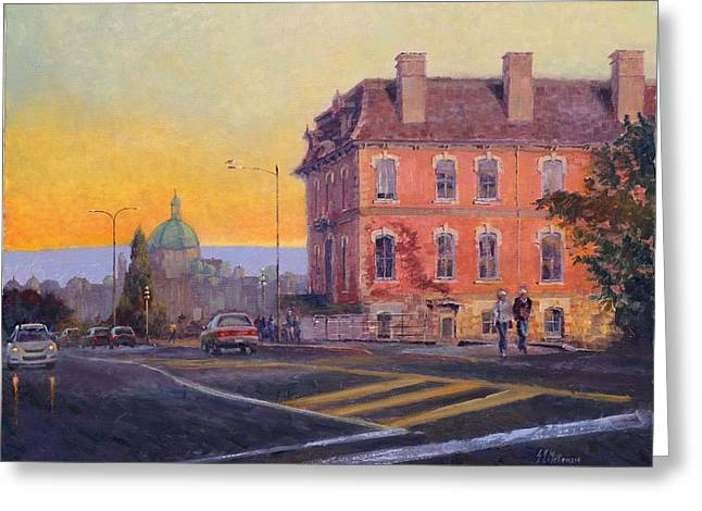 The customs house painting by german jaramillo mckenzie the customs house greeting card by german jaramillo mckenzie m4hsunfo