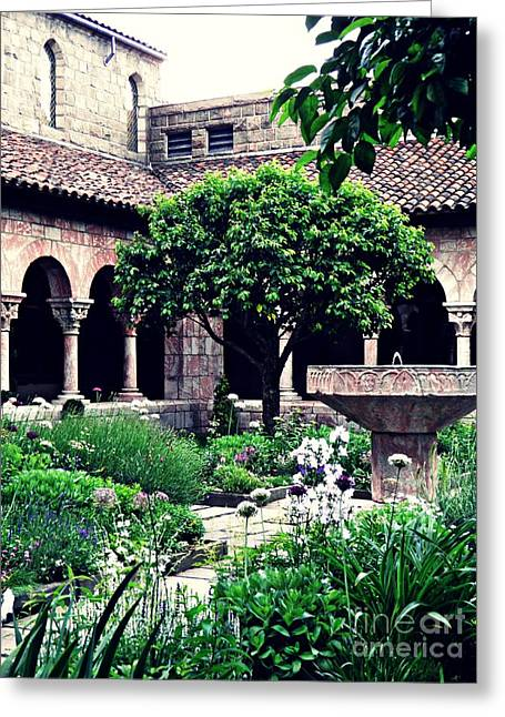 The Cuxa Cloister 1 Greeting Card