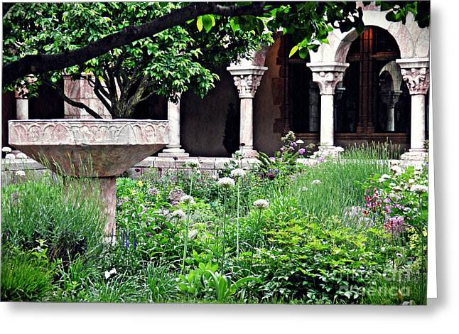 The Cuxa Cloister 2 Greeting Card by Sarah Loft