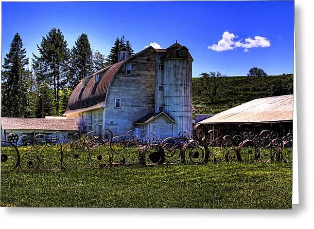 The Dahmen Barn Greeting Card by David Patterson