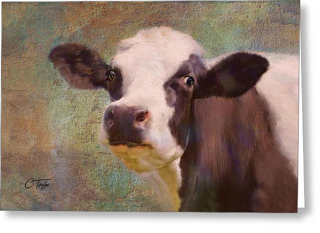 Greeting Card featuring the mixed media The Dairy Queen by Colleen Taylor