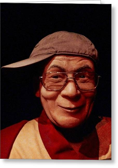 The Dali Lama Wearing My Hat Greeting Card by Bill Cannon