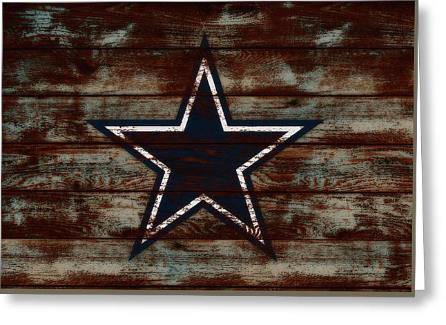 The Dallas Cowboys D1                             Greeting Card by Brian Reaves