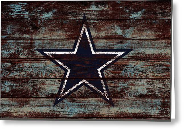 The Dallas Cowboys D4                             Greeting Card by Brian Reaves