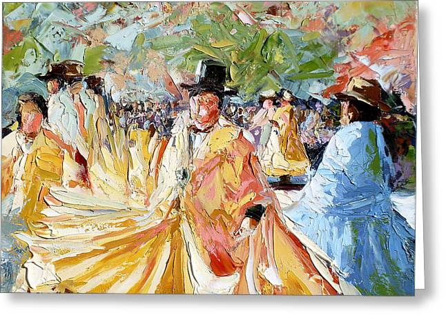 The Dance At La Paz Greeting Card