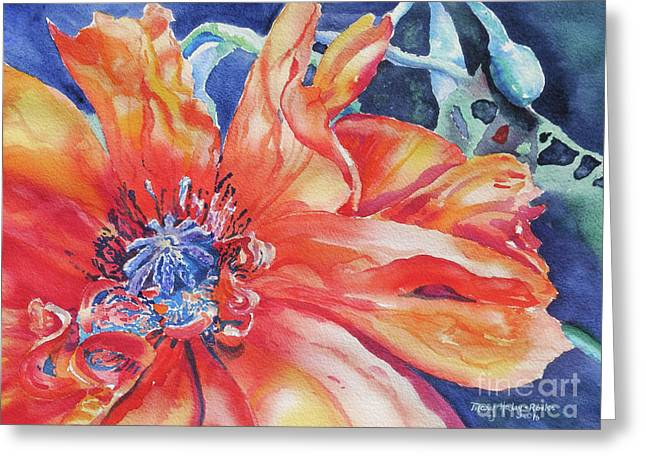 Greeting Card featuring the painting The Dance by Mary Haley-Rocks