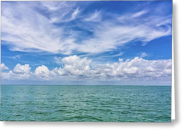 The Dance Of Clouds On The Sea Greeting Card