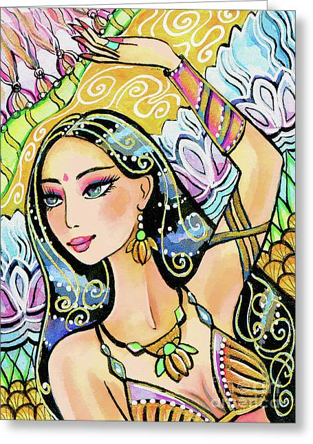 The Dance Of Daksha Greeting Card