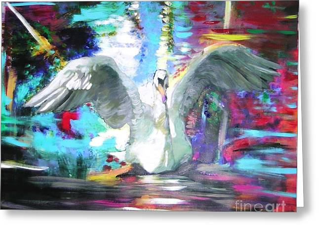 The Dance Of The Swan Greeting Card