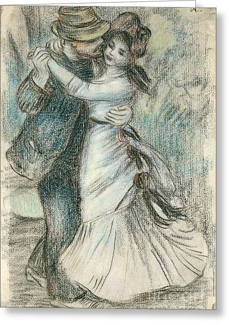 Valentine Pastels Greeting Cards - The Dance Greeting Card by Pierre Auguste Renoir