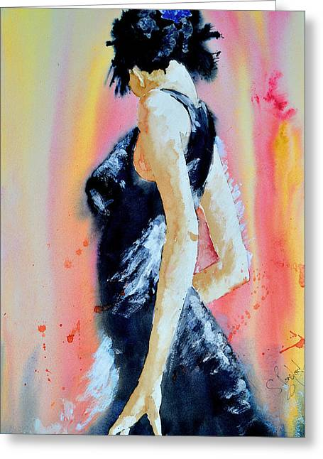 Greeting Card featuring the painting The Dance by Steven Ponsford