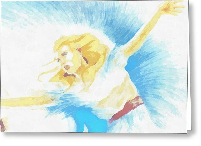 The Dancer Greeting Card by Mario Carini