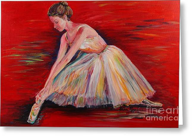 The Dancer Greeting Card by Nadine Rippelmeyer