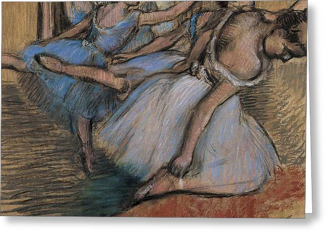 The Dancers Circa 1900 Greeting Card by Edgar Degas
