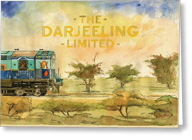 The Darjeeling Limited Poster Film Wes Anderson Greeting Card