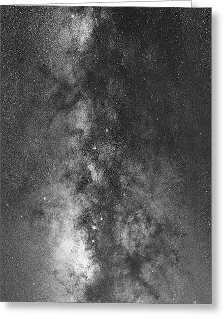 The Dark Heart Panorama Bw Greeting Card by Michael Ver Sprill