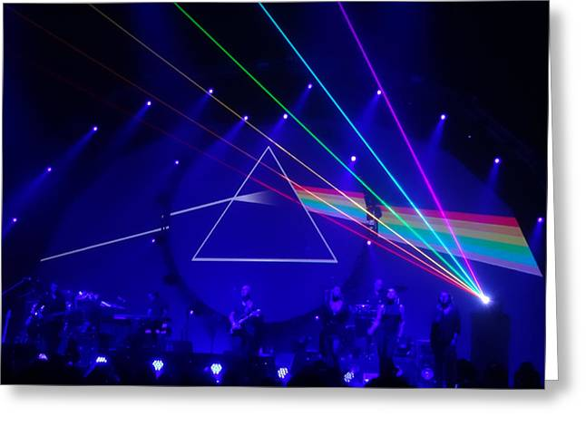 The Dark Side Of The Moon. Brit Floyd Space And Time World Tour 2015 Greeting Card