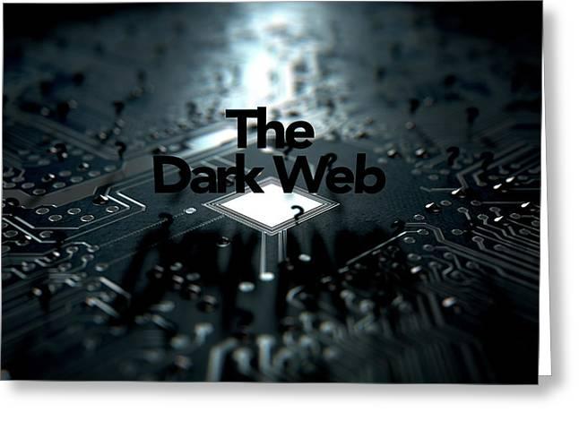 The Dark Web Concept Greeting Card