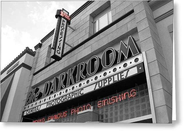 The Darkroom Greeting Card by Audrey Venute