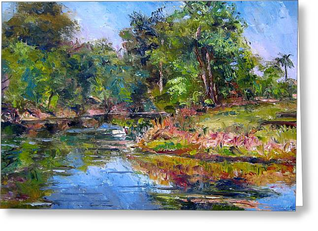 The Davie Canal Greeting Card by Mark Hartung