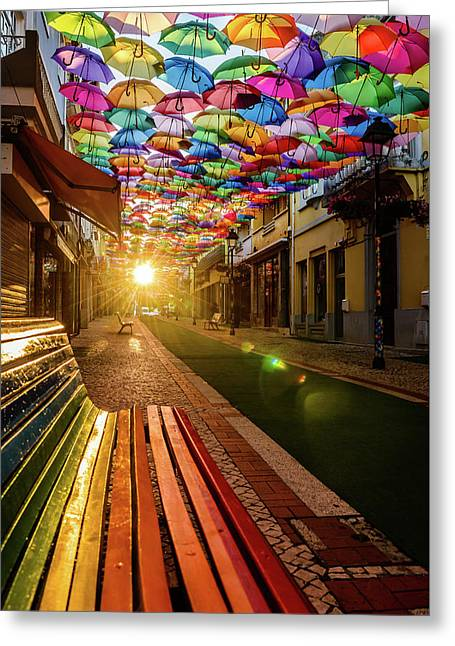 The Dawn Of A Colorful Day Greeting Card by Marco Oliveira