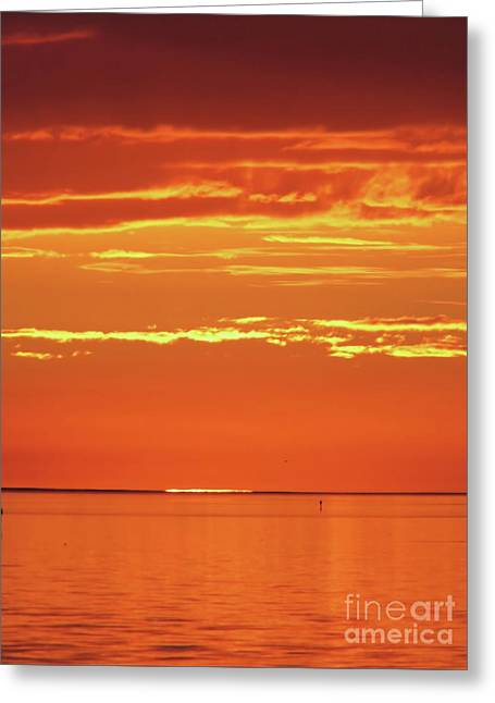 The Day Is Done Greeting Card by D Hackett
