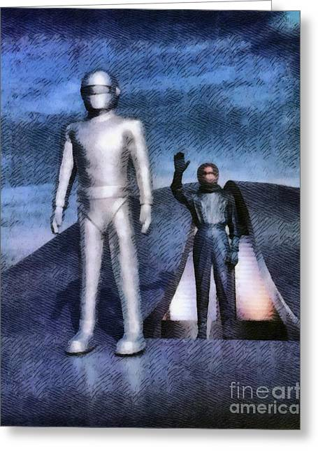 The Day The Earth Stood Still Greeting Card by John Springfield