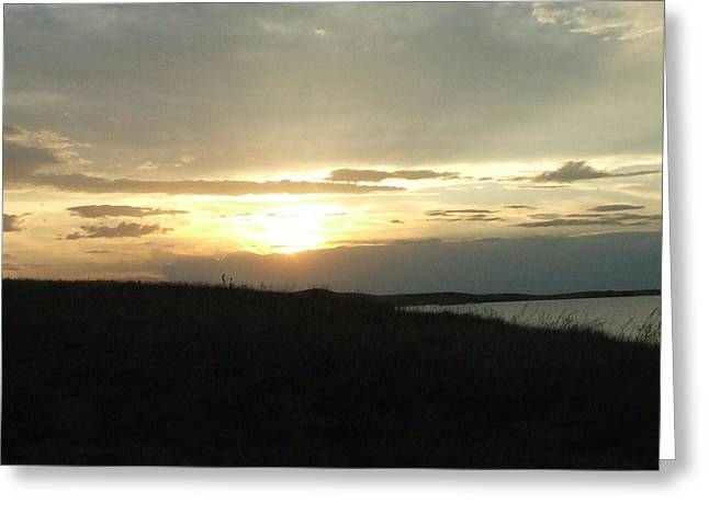 The Days End Greeting Card by Dennis Wilkins