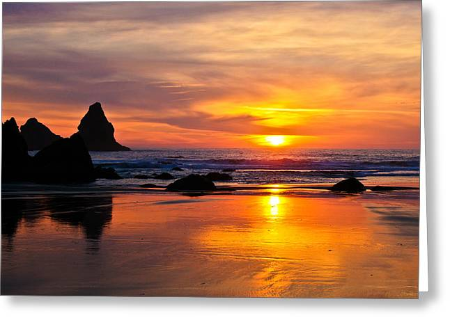 The Days Reflections Greeting Card by Jake Johnson