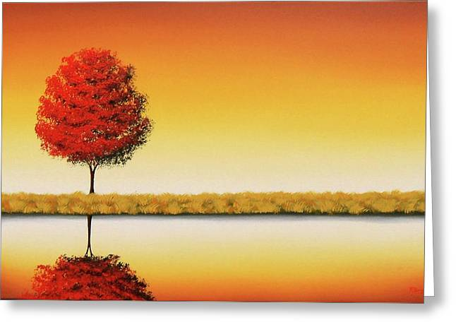 The Day's Repose Greeting Card by Rachel Bingaman
