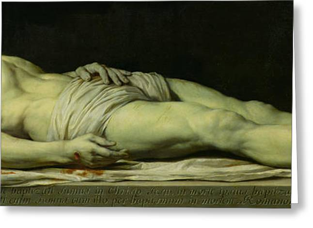The Dead Christ On His Shroud Greeting Card