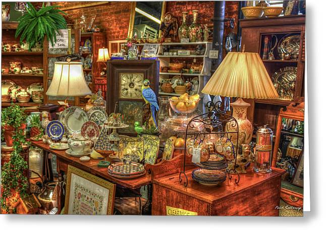 The Dealer Greensboro Antique Mall Art Greeting Card