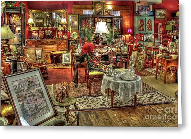 The Dealer Greensboro Antique Mall Greensboro Georgia Art Greeting Card
