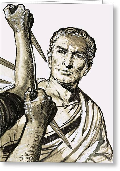 The Death Of Caesar Greeting Card by English School