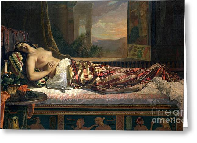 The Death Of Cleopatra Greeting Card by German von Bohn