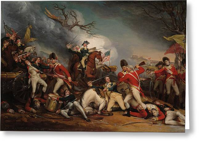 The Death Of General Mercer At The Battle Of Princeton, Jan 3, 1777 Greeting Card