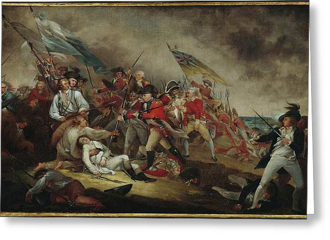 The Death Of General Warren At The Battle Greeting Card by John Trumbull