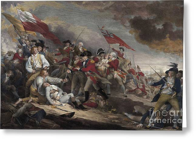 The Death Of General Warren At The Battle Of Bunker Hill, 17th June 1775 Greeting Card
