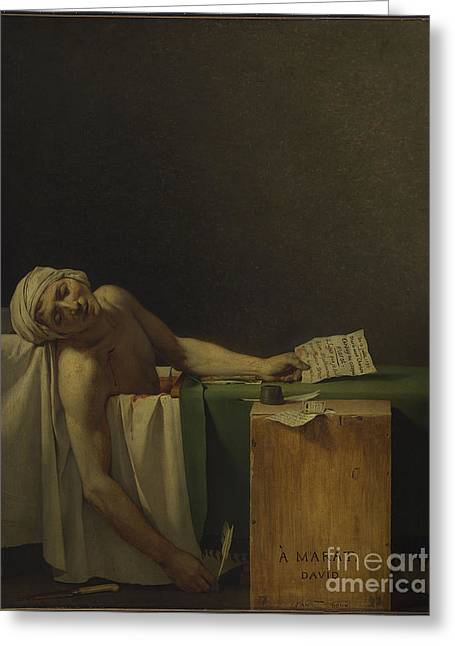 The Death Of Marat Greeting Card by MotionAge Designs