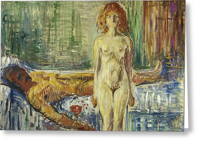 The Death Of Marat II Greeting Card by Edvard Munch