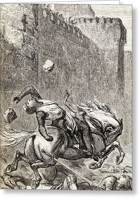 The Death Of Simon De Montfort After Greeting Card by Vintage Design Pics