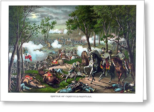 The Death Of Stonewall Jackson Greeting Card